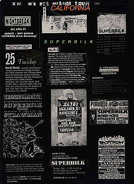 Superbilk California Tour Flyer, 1995, Stefan Kürten