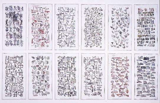 Das wirkliche Leben (Detail), 1992, 20-tlg, Stefan Kürten